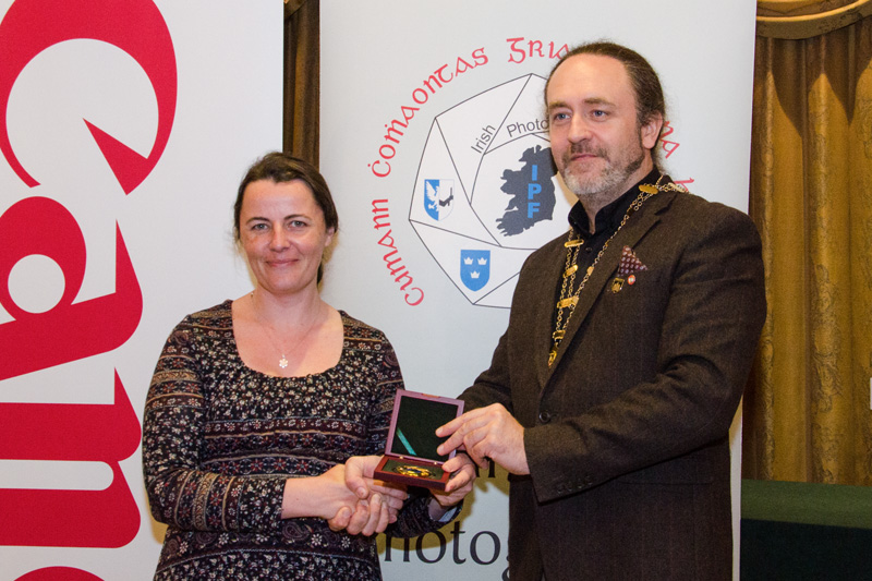 IPF President Michael O'Sullivan pictured presenting Brendan Walkin Memorial Award to Niamh Whitty