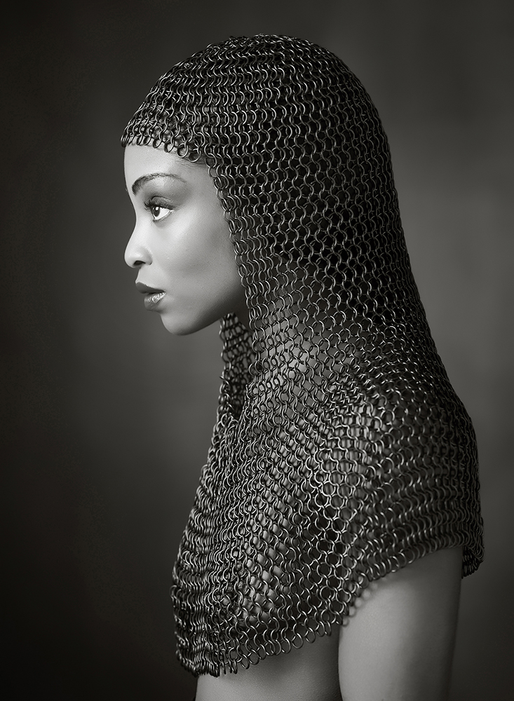 Monochrome Print Individual  Bronze Medal -  Ross McKelvey - 'Chainmail Profile' - Creative Photo Imaging Club.jpg
