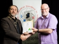 IPF President Michael O'Sullivan pictured presenting LIPF distinction to Brendan Byrne