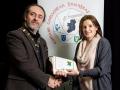 IPF President Michael O'Sullivan pictured presenting LIPF distinction to Elizabeth Tabb