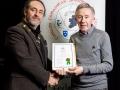 IPF President Michael O'Sullivan pictured presenting LIPF distinction to Finbarr O'Shea