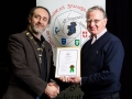 IPF President Michael O'Sullivan pictured presenting LIPF distinction to Frank Gaughan