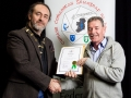 IPF President Michael O'Sullivan pictured presenting LIPF distinction to John Sludds