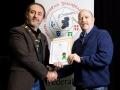 IPF President Michael O'Sullivan pictured presenting LIPF distinction to Patrick Maguire