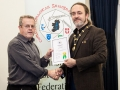 IPF President Michael O'Sullivan pictured presenting LIPF distinction to Desmond Maguire