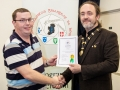IPF President Michael O'Sullivan pictured presenting LIPF distinction to John Carey