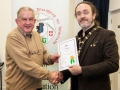 IPF President Michael O'Sullivan pictured presenting LIPF distinction to John Tait