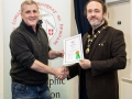 IPF President Michael O'Sullivan pictured presenting LIPF distinction to Kevin McGuirk