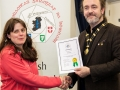 IPF President Michael O'Sullivan pictured presenting LIPF distinction to Olivia Fortune