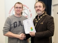IPF President Michael O'Sullivan pictured presenting LIPF distinction to Rob O'Halloran