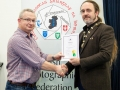 IPF President Michael O'Sullivan pictured presenting LIPF distinction to Trevor O'Toole