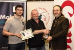 IPF President Michael O'Sullivan pictured with Michael Maher from competition sponsor Mahers Photographic and award winner Michael Linehan
