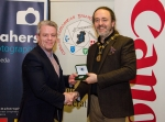 IPF President Michael O'Sullivan pictured with award winner Des Connors