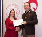 IPF President Michael O'Sullivan pictured with award winner Heather Rice
