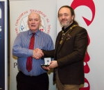 IPF President Michael O'Sullivan pictured with award winner Jim McSweeney