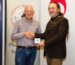 IPF President Michael O'Sullivan pictured with award winner Padraig Molloy