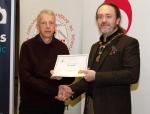 IPF President Michael O'Sullivan pictured with award winner Paul Crockett