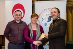 IPF President Michael O'Sullivan and Shane Cowley from Canon Ireland pictured with award winner Ciara Drennan
