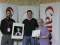 Philip Desmond from Canon Ireland and IPF Vice-President Lilian Webb pictured with award winner Alan Hunt .jpg
