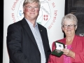 Lilian Webb presenting Bronze & Silver Medals to Edwin Bailey in the Advanced Section, AV2015.