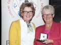 Lilian Webb presenting Margaret Finlay with the Gold Medal as winner of the Advanced Section, AV2015.