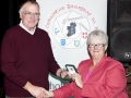 Lilian Webb presenting the IPF Gold Medal to Raymond Hughes as winner of the International Section, AV2015.
