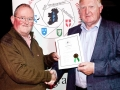 Mark Sedgwick presenting Liam Haines, LIPF with his certificate & badge at AV 2015.