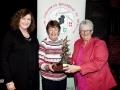 Mary O\'Loughlin, Rita Nolan & Lilian Webb with the Kieran O\'Loughlin Memorial Trophy won by Rita Nolan as the best overal sequence in AV2015
