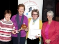 Rita Nolan, Bridie Maughan, Margaret Finlay & Lilian Webb receiving the Andorra Trophy on behalf of Celbridge Camera Club - winners of the Club Section, AV2015.