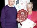 Sheamus O'Donoghue receiving the Best Photography award from Lilian Webb at AV2015.