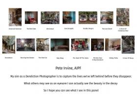 Pete Irvine, AIPF, Ballymoney Photographic Club