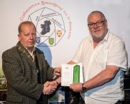 Dominic Reddin, FIPF presenting an Honourable Mention Certificate to Mark Allen, DPAGB-AV