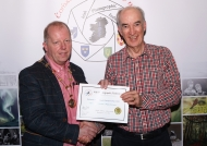 Dominic Reddin, President IPF, presenting James Hamill with his Honourable Mention Certificat in the Photo Harmony Competition, 21st October, 2018.