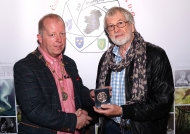 Dominic Reddin, President IPF, presenting Malcolm Imhoff with his Bronze Medal in the Photo Harmony competition - 21st October, 2018