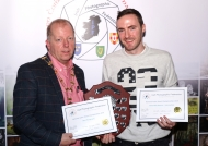 Dominic Reddin, President IPF, presenting Oliver Gargan with the Best Photography Trophy & Honourable Mention Certificate in the Intermediate Section of the IPF AV Nationals, 21st October, 2018.