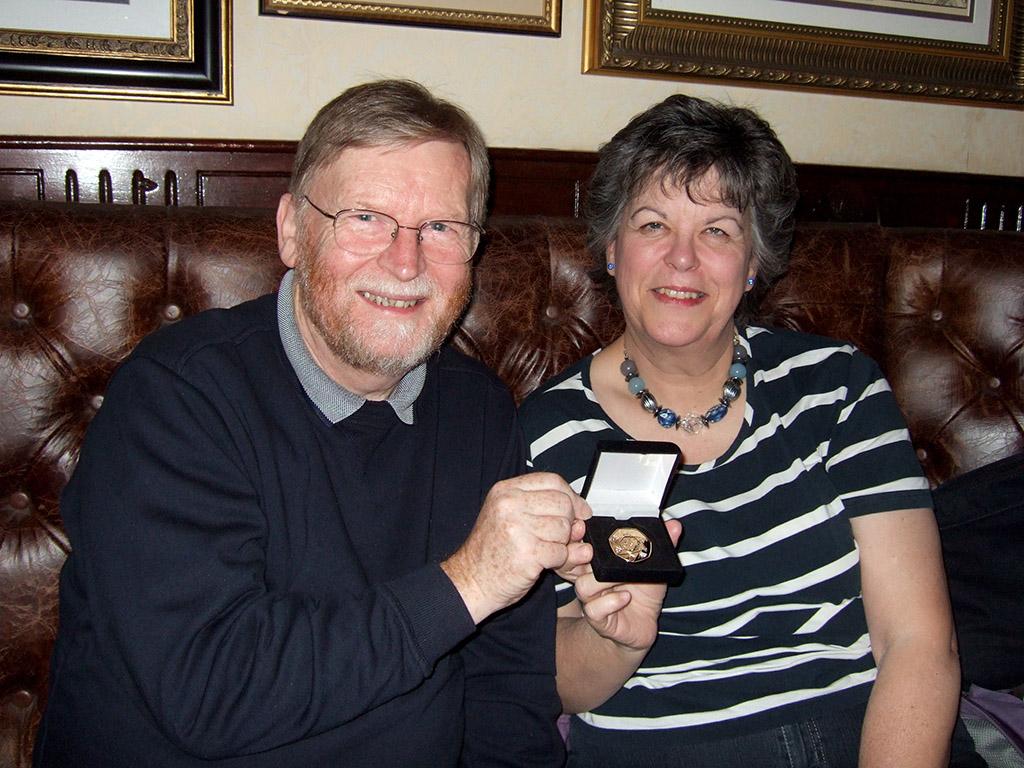 Linda & Edgar Gibbs, winners of gold medal in international competition