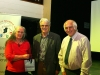 Brendan O'Sullivan, Chairman of IPF AV Group Committee, presenting the Jill Bunting & John Smith (judges) with a memento