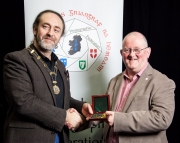 IPF President Michael O'Sullivan pictured presenting Seamus Scullane Gold Medal, our highest award, to Mark Sedgwick