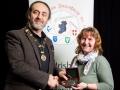 IPF President Michael O'Sullivan pictured presenting Bredan Walkin Memorial Award to Rosemary Sedgwick