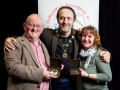 IPF President Michael O'Sullivan pictured with Mark and Rosemary Sedgwick and their honouarary awards for service to the IPF