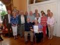 John Wilkinson, AIPF & Lilian Webb, AIPF with members of Enniscorthy Camera Club