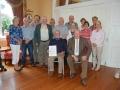 John Wilkinson, AIPF, following the presentation of the Brendan Walkin medal with members of Enniscorthy Camera Club
