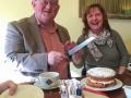 Mark and Rosemary Sedgwick enjoying Mark's last day on IPF Council with a celebratory cake
