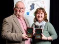 Mark and Rosemary Sedgwick pictured with their honouarary awards for service to the IPF