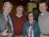 IPF President John Cuddihy with Denis Whelehan, Denis's wife Joan and Dundalk Photographic Society Chairman Ciaran deBhal