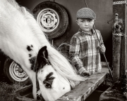 Monochrome Print Individual  Gold Medal -  Frank Condra - 'Boy and Pony' - Drogheda Photographic Club.jpg