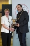 IPF President Michael O'Sullivanpresenting Ann Casey with the Rose Bowl trophy dontated by her late husband Sean to the IPF many years ago.jpg