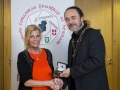 IPF President Michael O'Sullivan presenting individual colour bronze medal to Judy Boyle.jpg