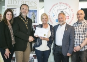 IPF President Michael O'Sullivan presenting 1st Place Colour Club Award to Drogheda Photographic Club accepted by Deirdre Watson, Frank Condra, Judy Boyle and Vadim Lee