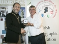 IPF President Michael O'Sullivan pictured presenting Judges' Medal to judge Nick Scott